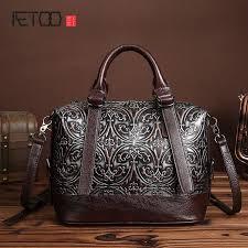 <b>AETOO</b> brand New <b>leather</b> embossed <b>genuine leather handbag</b> ...
