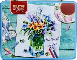 Подарочный чайный набор <b>Hilltop</b> Шкатулка Цветочная картина ...