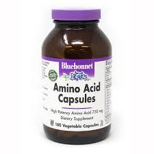 <b>AMINO ACID</b> 750 mg <b>180</b> VEGETABLE <b>CAPSULES</b> - Bluebonnet ...