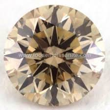 2.50 <b>carat</b> light brown color <b>loose moissanite</b> for wedding ring - Buy ...
