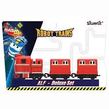 <b>Silverlit</b> Robot Trains <b>Паровозик</b> с двумя вагонами <b>Альф</b> 80180RT