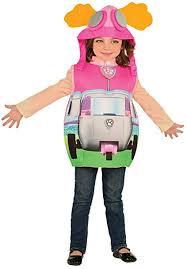 Rubie's Official <b>Paw Patrol</b> Skye + Pouch Girls Fancy Dress Pilot ...