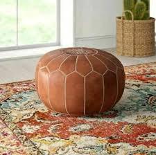 Leather pouf <b>handmade pouf brown</b> pouf moroccan pouf genuine ...
