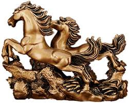 Feng Shui Resin Double Running Horse Statue ... - Amazon.com