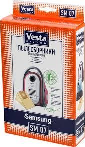 <b>Vesta filter</b> SM 07 <b>комплект пылесборников</b>, 5 шт — купить в ...