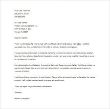 Career fair cover letter sample