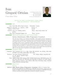 resume and cv examples  swaj euresume
