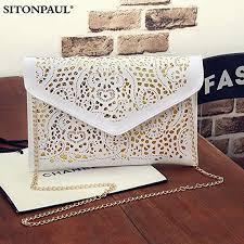 FidgetGear Women <b>Stylish Hollowed</b>-out Envelope Chain Bag ...