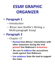 to kill a mockingbird essay writing  review chapter   p         essay graphic organizer paragraph  – introduction –   see jane shaffer    s writing a multi