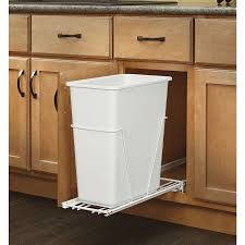 Kitchen Cabinet Garbage Drawer Perfect Kitchen Trash Can Storage Cabinet Solid Oak Trash Bin With
