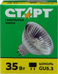 <b>Лампа галогеновая СТАРТ</b> MR16 ,75Вт,GU5.3 – купить в сети ...