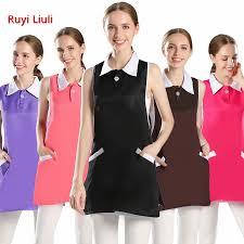 <b>Beauty salon beautician work clothes</b> girl <b>clothes apron</b> fashion nail ...