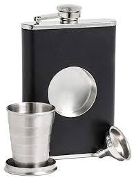 Amazon.com | <b>Shot</b> Flask - Stainless Steel 8 oz <b>Hip Flask</b>, Built-in ...