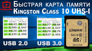 Быстрая <b>карта памяти</b> Kingston <b>SDHC 16GB</b> Class 10 UHS-I ...