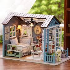 Handmade Assembled <b>Diy</b> Hut Sen Blue Time <b>Beautiful</b> Years ...