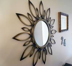 shaped wall decor modern superb mirror wall decoration with round wall mirror and sunburst wall