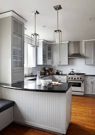 stainless steel countertops white cabinets cottage this is a sleek very contemporary example of a cottage kitchen the use