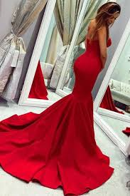 <b>Sexy Red</b> Sweetheart <b>Mermaid Prom</b> Dresses, Strapless Sweetheart ...