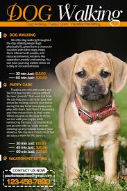design a flyer for dog walking company lancer 5 for design a flyer for dog walking company by tduongvn