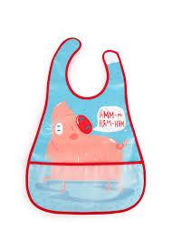 Купить водонепроницаемый <b>нагрудник</b> с кармашком <b>Happy Baby</b> ...