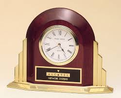 art deco style rosewood stained piano finish clock art deco style rosewood