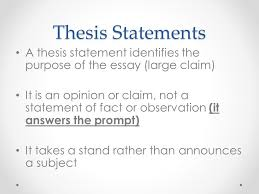thesis statements large claim thesis statements a thesis