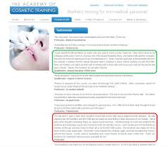 botox dermal filler training academy for non medics surely not a beauty therapist also comments now i am trained i can safely say that i will be working a doctor who will make sure i inject in the way the law