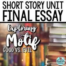 idioms short stories and weather on pinterest short story unit final essay analyzing motif good vs evil