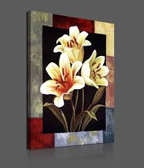 Flower Paintings On Canvas | <b>Pieces Modern</b> Canvas Painting ...