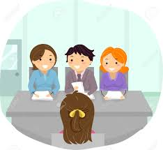 evidence of preparation for job interview clipart clipartfox at a panel interview stock