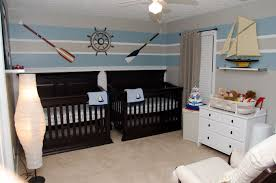 Nautical Themed Bedroom Decor Baby Boy Nursery Nautical Theme Oars Twins Stripes Twin Boys