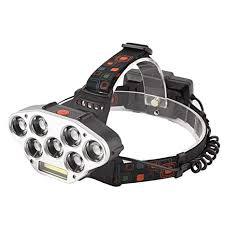 <b>7led</b>+COB Strong <b>Headlights</b>, <b>Super Bright</b> Waterproof Charging ...