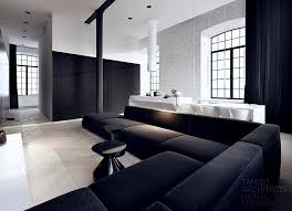 this black and white interior vision is a striking loft in the complex scheibler black white interior design