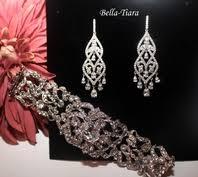 Sarahann - <b>High End CZ bridal</b> bracelet and earring set - GREAT ...