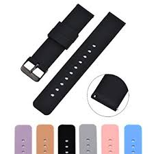 Amazon.com: MLQSS <b>Soft Silicone Watch Band</b> with Quick Release ...