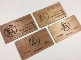 Laser engraved <b>business cards</b> on wood, <b>metal</b>, plastic - starting at ...