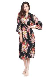 Zarachilable 14 Color Long floral <b>robe</b> Bride Kimono bridesmaid ...