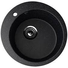 <b>Мойка Ulgran U-405-308</b> (диам. 495мм) черная с сифоном