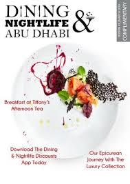Dining and Nightlife Abu Dhabi | Edition 49 | March <b>2019</b> by Dining ...