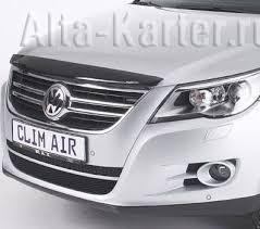 <b>Дефлектор ClimAir для капота</b> Volkswagen Tiguan 2008-2016 ...