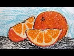 How to Draw Orange / Как нарисовать апельсин Восковыми ...