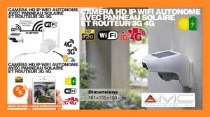 caméra solaire <b>3g 4g ip wifi</b> extérieure hd720p , détecteur pir