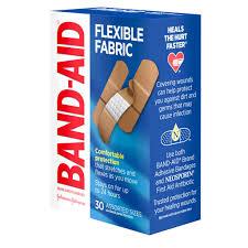 <b>Flexible</b> Fabric <b>Adhesive Bandages</b>, Assorted Sizes, 30 Ct   BAND ...