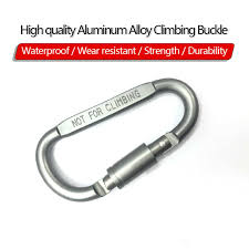 <b>High</b> Quality Outdoor Camping Climbing Carabiner <b>D shaped</b> With ...