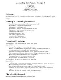bookkeeping resume objective examples cipanewsletter cover letter resumes for bookkeepers examples of resumes for