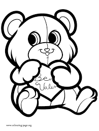 Small Picture Valentines Day A cute Love Bear coloring page