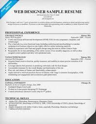 graphic web designer resume sample internet and media graphic web web design resume example
