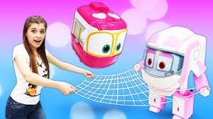 Веселые игры девочкам. Дозорная башня для <b>Robots trains</b> ...