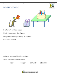 math logic problems math problems birthday girl