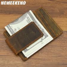 <b>Neweekend Genuine Leather</b> Men's Crazy Horse <b>Purse</b> Money Clip ...